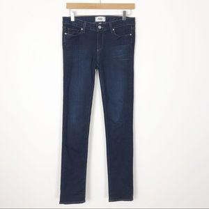 PAIGE Denim Dark Wash Skyline Skinny Jeans 28